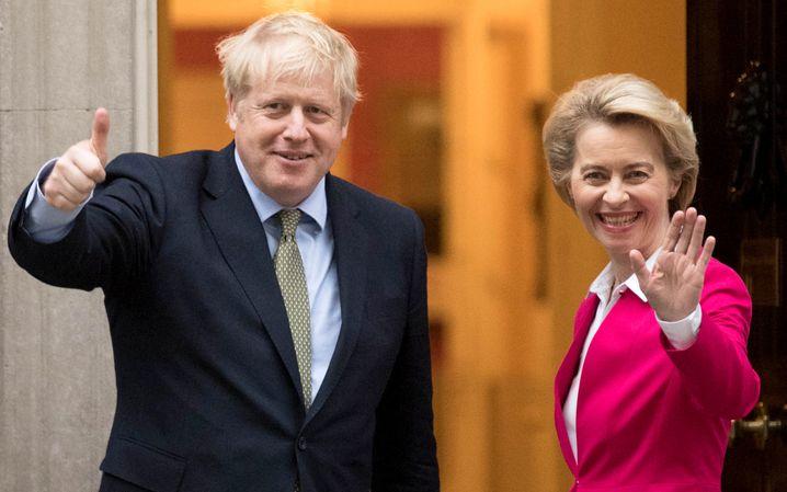 Bessere Zeiten: Boris Johnson und Ursula von der Leyen im Januar 2020 in London