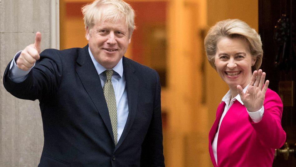 Brexit: Von der Leyen drängt Johnson zum Einlenken
