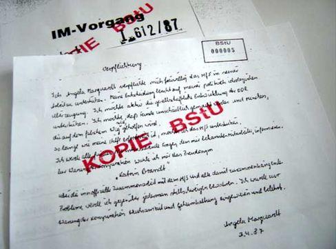 Stasi- oder Schweigeverpflichtung? Das umstrittene Dokument.