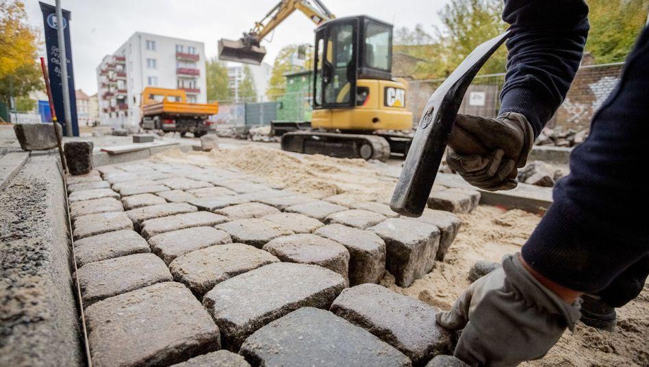 Straßenbau in Potsdam