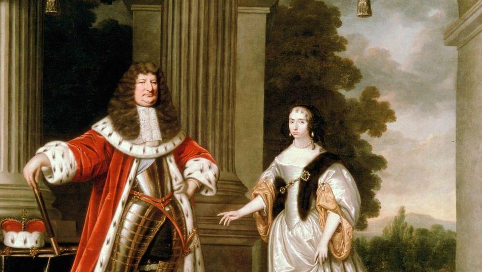 Der Große Kurfürst mit seiner ersten Gattin Luise Henriette von Oranien Gemälde des niederländischen Malers Pieter Nason aus dem Jahr 1666
