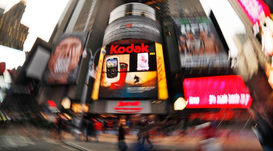 Kodak-Logo am New Yorker Times Square: Technologie-Pionier vor dem Aus