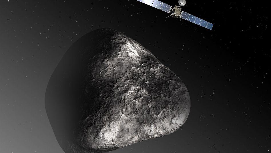 """Die Landung steht bevor: Morgen erreicht """"Rosetta"""" ihren Zielkometen 67P/Tschurjumow-Gerassimenko (künstlerische Darstellung)"""