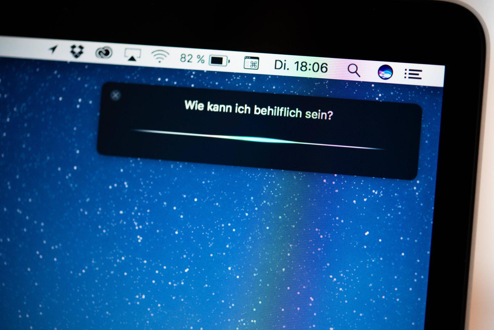 Siri Sprachassistent von Apple Bildschirmfoto Detail Copyright imageBROKER NathaliexLieckfeld ib
