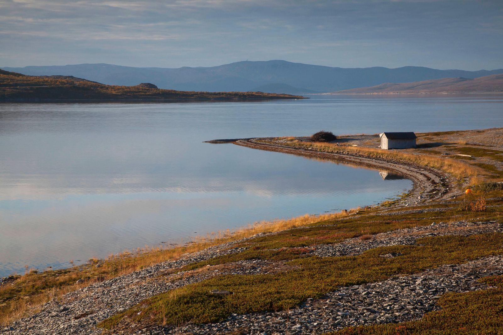 Europe, fjord, autumn, autumn colors, coast, scenery, landscape, Lapland...