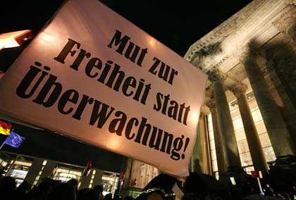 Demo gegen Vorratsdatenspeicherung im November 2007: Die Masse interessiert das Thema nicht