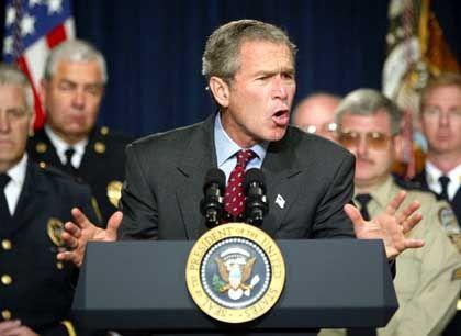 Präsident Bush will sich keinen Zeitplan für seinen Irak-Feldzug aufzwingen lassen