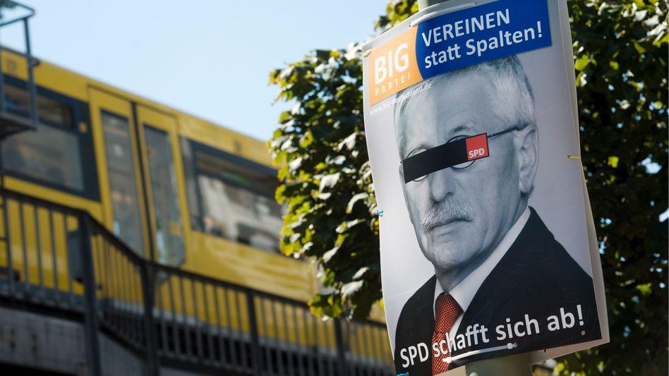 Plakat der BIG-Partei in Berlin: Mehr als eine lose Versammlung deutsch-türkischer Politiker