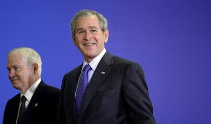 US President George W. Bush is still piling on the pressure for Berlin to help shoulder the burden in Afghanistan.