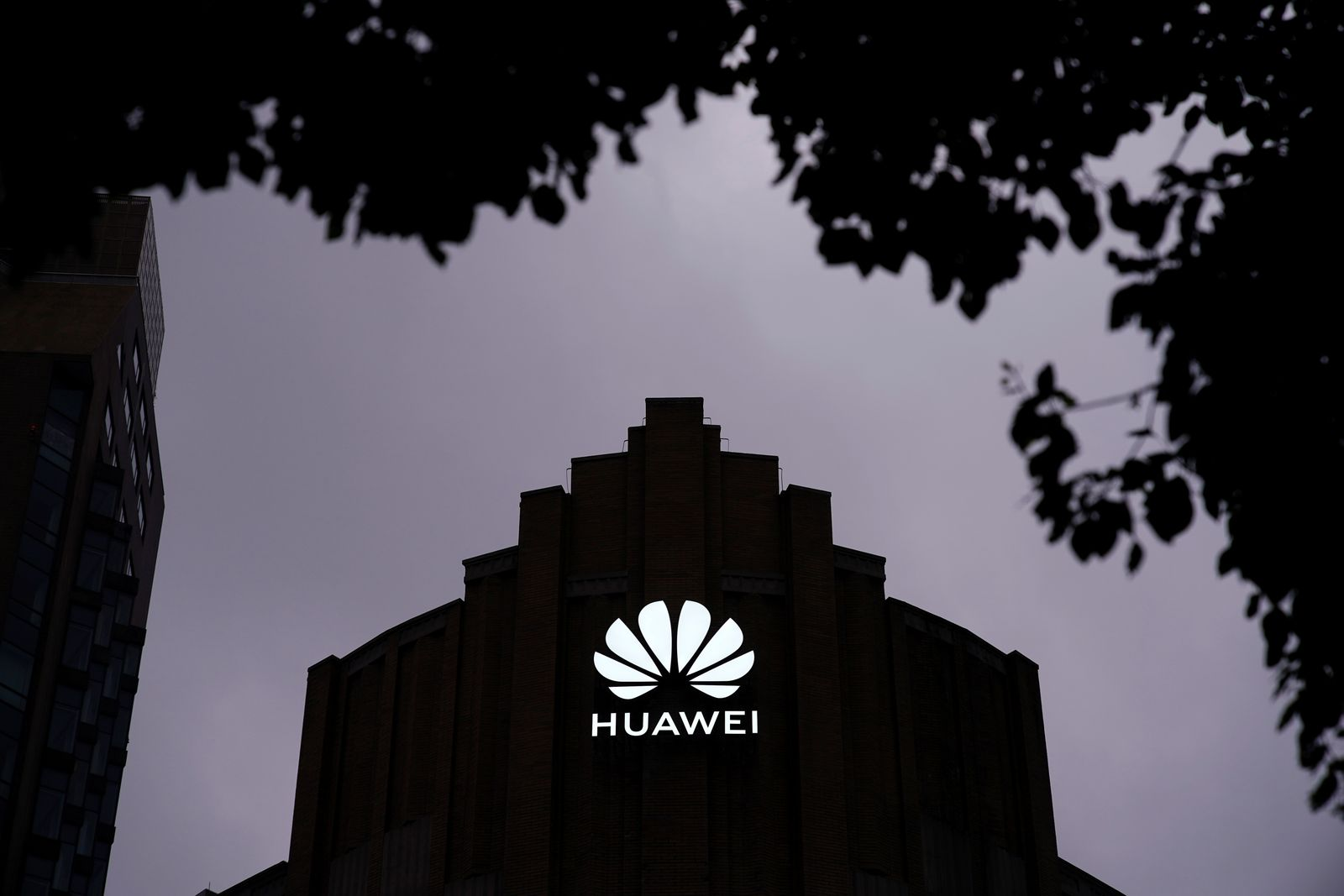 Huawei's new flagship store is seen ahead of tomorrow's official opening in Shanghai