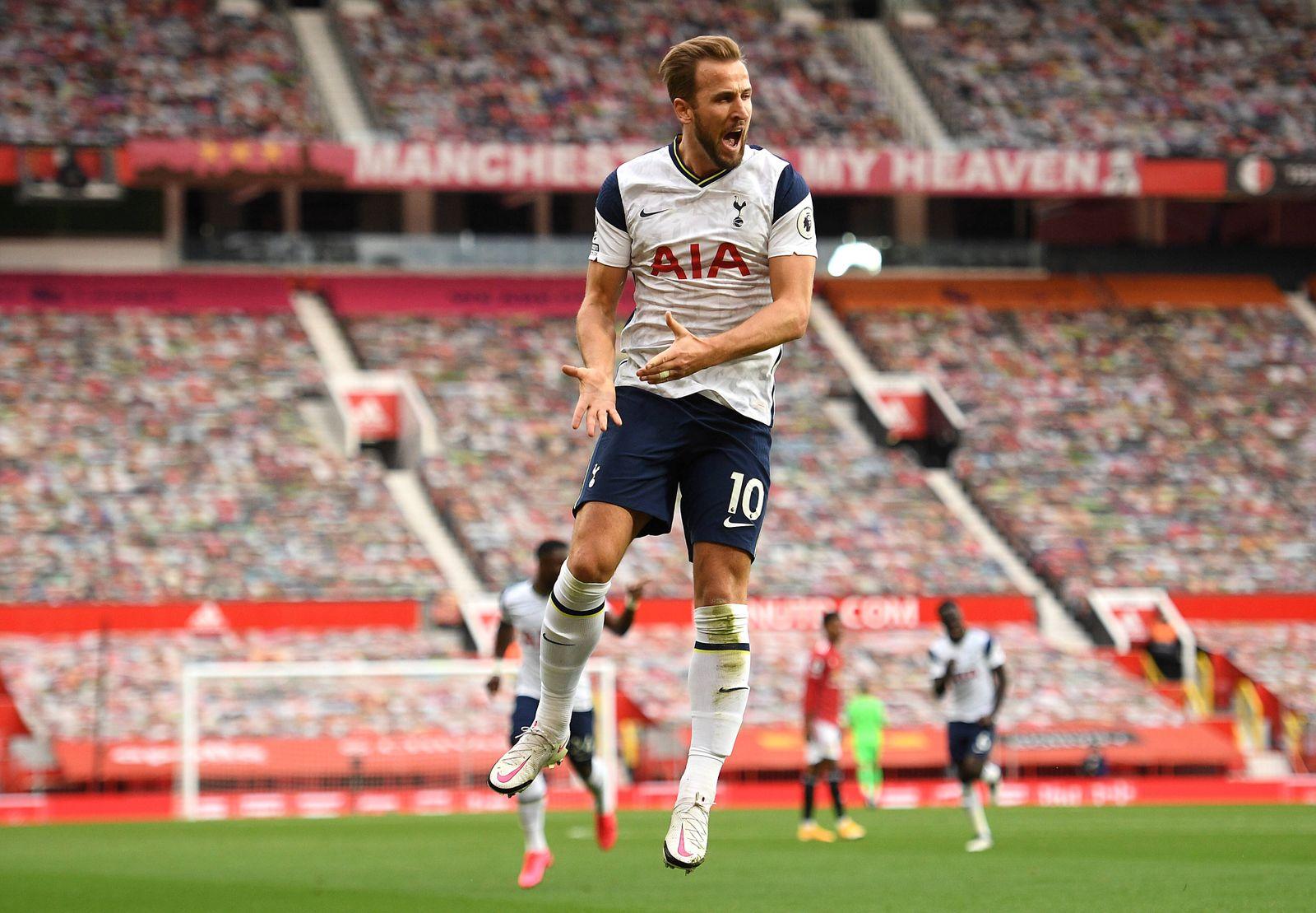 Manchester United, ManU v Tottenham Hotspur - Premier League - Old Trafford Tottenham Hotspur s Harry Kane celebrates s