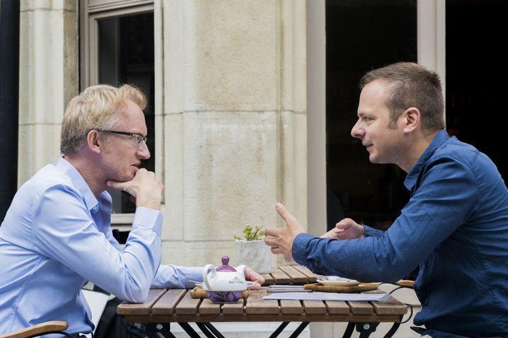 Reybrouck mit SPIEGEL-Redakteur Tobias Rapp