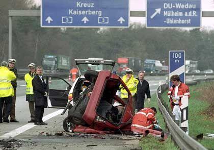 Unfall auf der A 3 bei Duisburg (Archivbild): Die Zahl der getöteten Kinder steigt