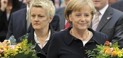 Grünen-Spitzenkandidatin Künast, Kanzlerin Merkel (bei der Wahl des Bundespräsidenten): schwarz-grüne Signale