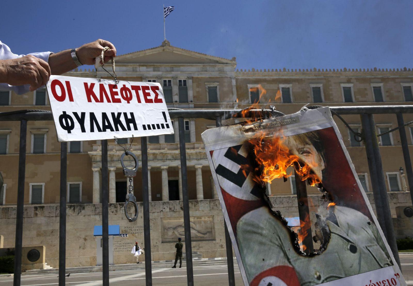 Athen / 1. Mai / Merkel