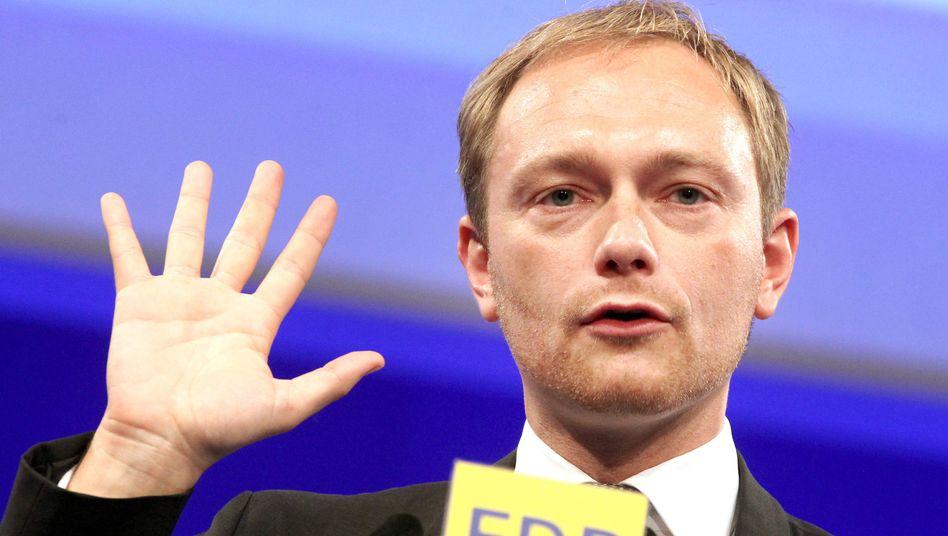 """FDP-Generalsekretär Christian Lindner: """"Wenn die Union Mut hat, folgt sie uns"""""""