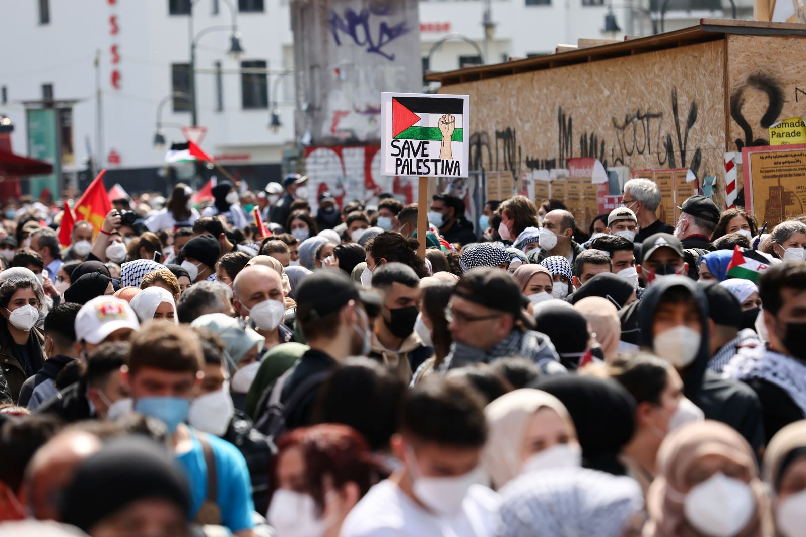 Palestinians demonstrate in Germany on the anniversary of Nakba