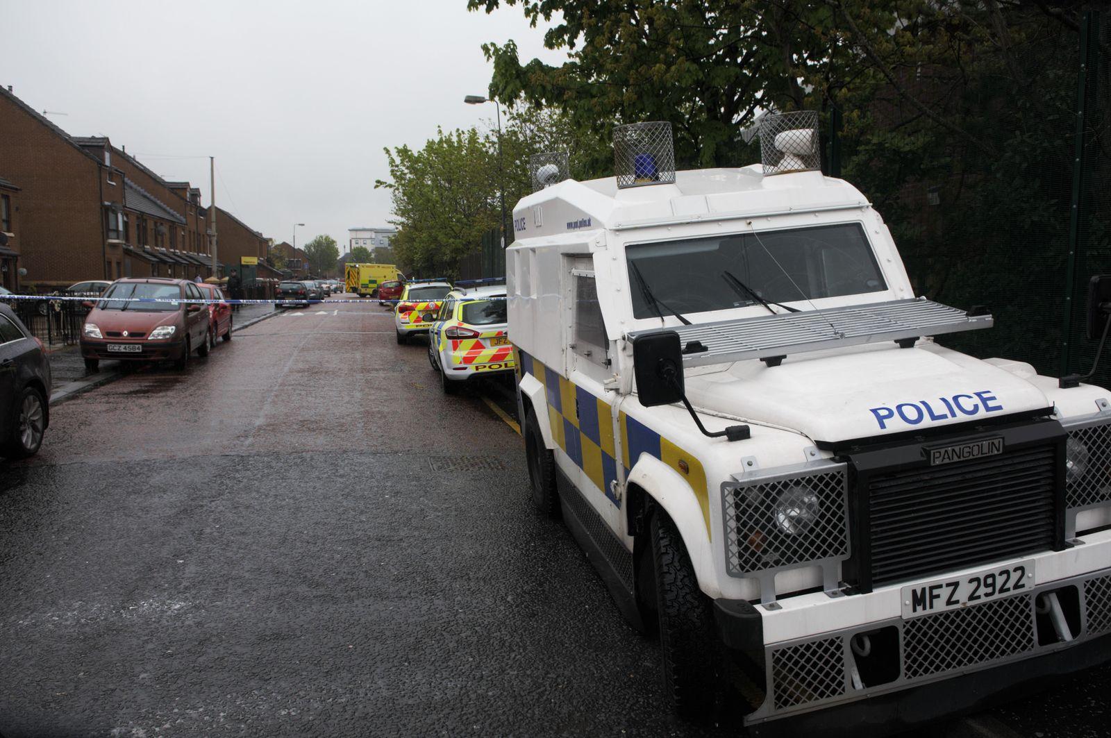 EINMALIGE VERWENDUNG Belfast / Erschießung