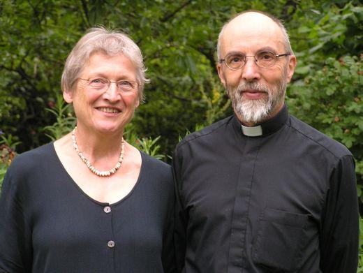Pfarrer Wolfgang Tschuschke mit seiner Ehefrau