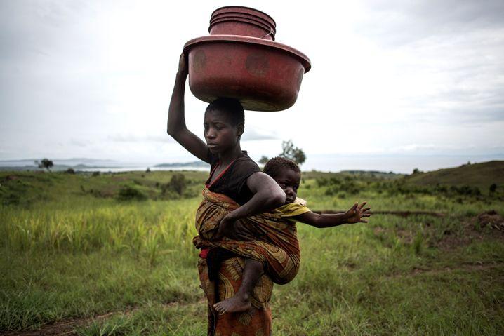 Im eigenen Land vertrieben: Frau mit Kind in der Demokratischen Republik Kongo