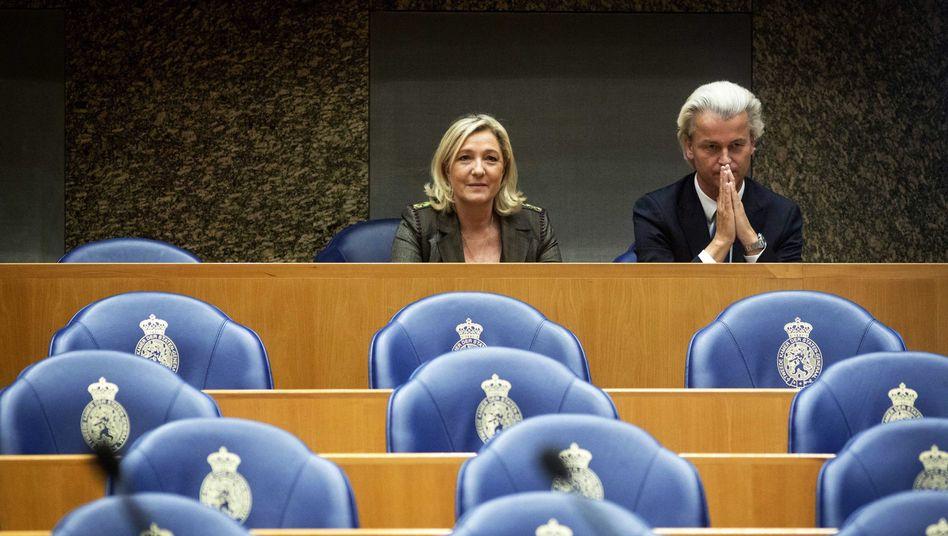 Rechtspopulisten Wilders und Le Pen: Mischung aus anti-islamischen und anti-europäischen Positionen