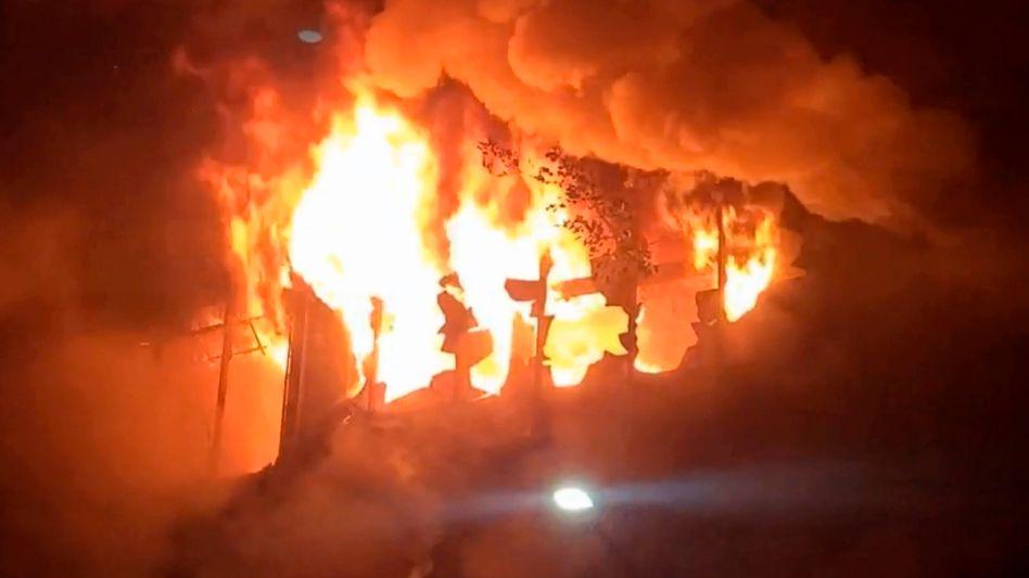 Hausbrand in der südtaiwanischen Hafenstadt Kaohsiung