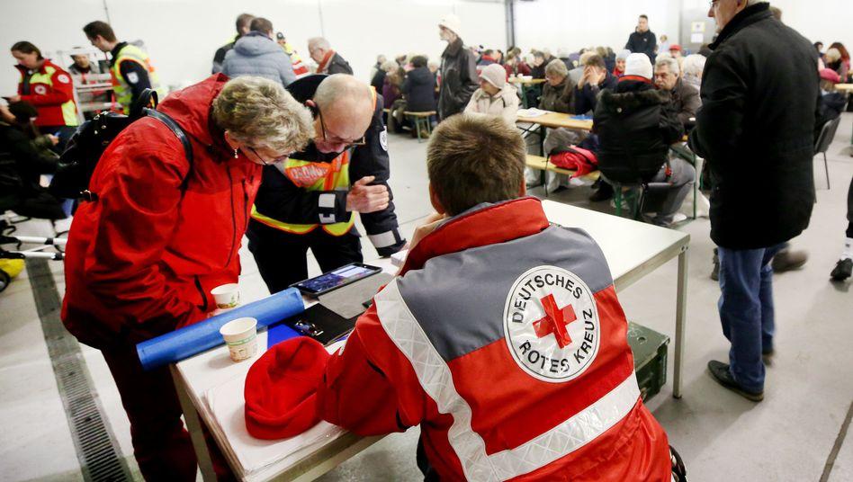 Evakuierte in Köln