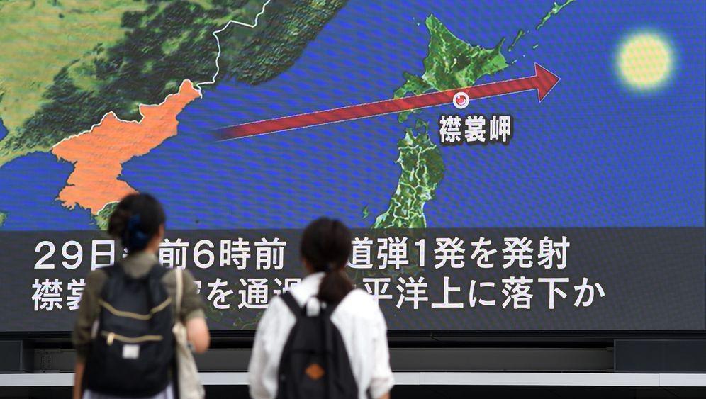 Nordkoreas Rakete: Flug über Japan