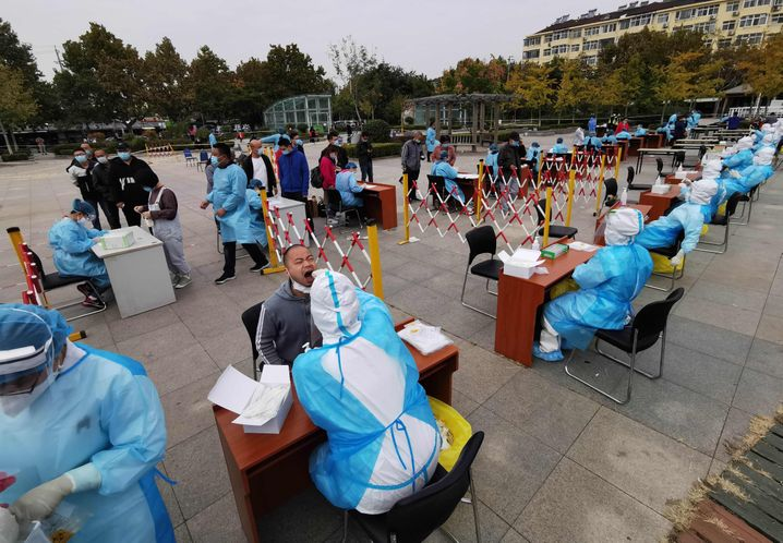 This month, officials in Qingdao, China, conducted mass COVID-19 testing after a minor outbreak.