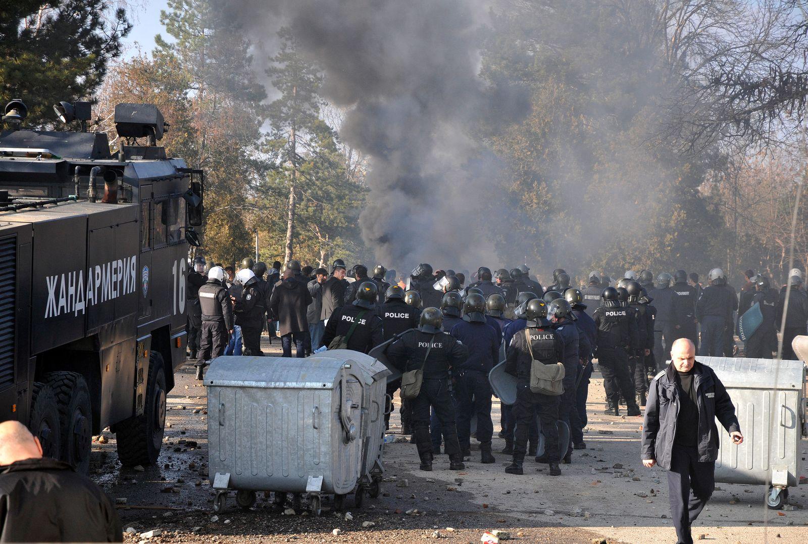 EINMALIGE VERWENDUNG Bulgarien Flüchtlinge