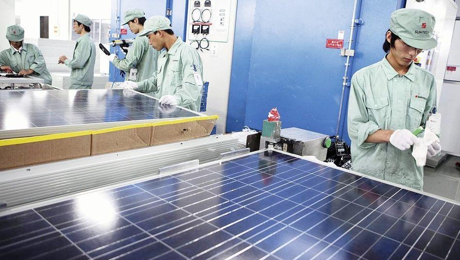 Herstellung von Solarmodulen im chinesischen Wuxi