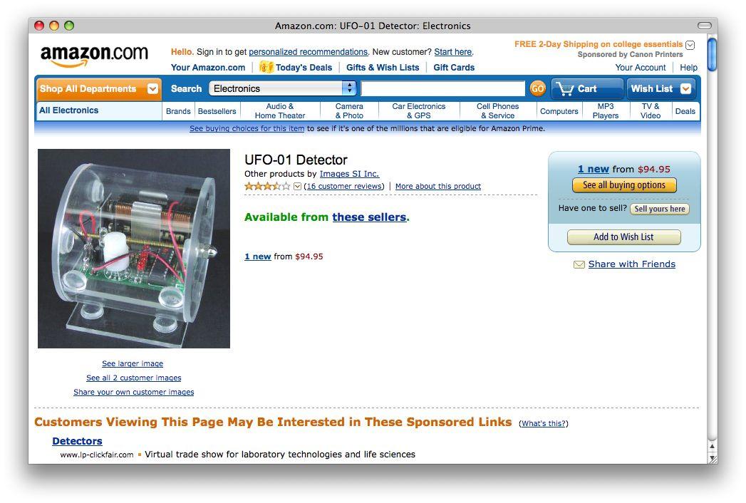 NUR ALS ZITAT Amazon #6 / Ufo Detektor / Screenshot