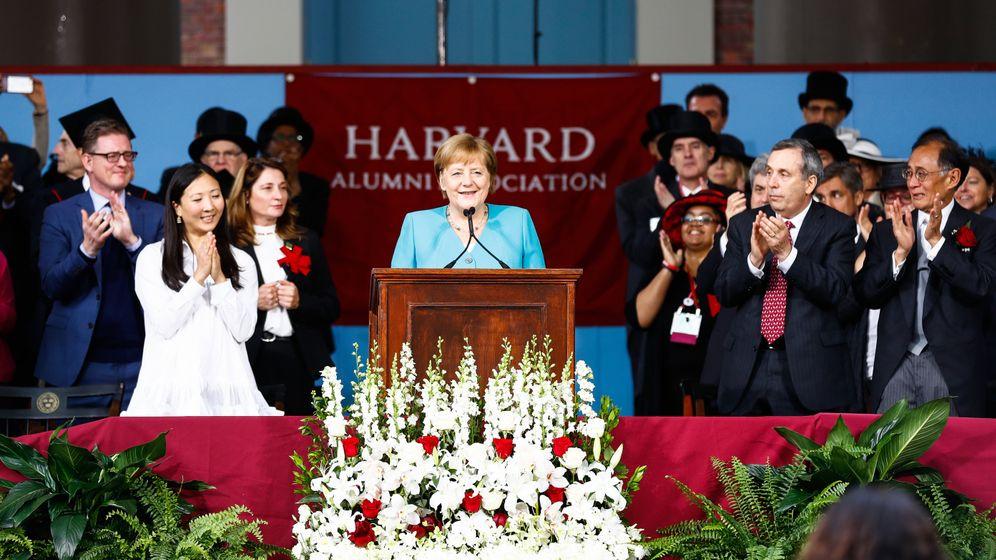 """Merkel in Harvard: """"Nichts muss so bleiben, wie es ist"""""""