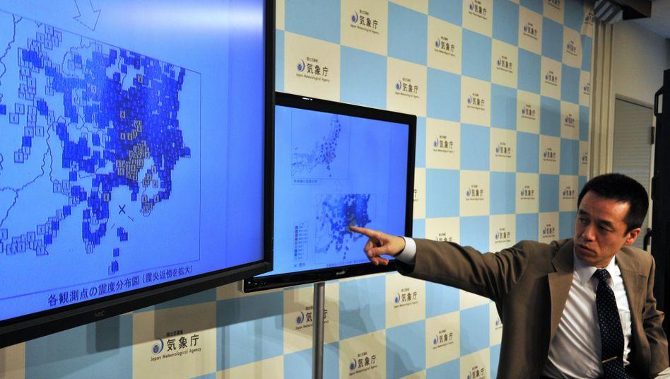 Pressekonferenz in Tokio (5. Mai): Erde wackelte um 5.18 Uhr