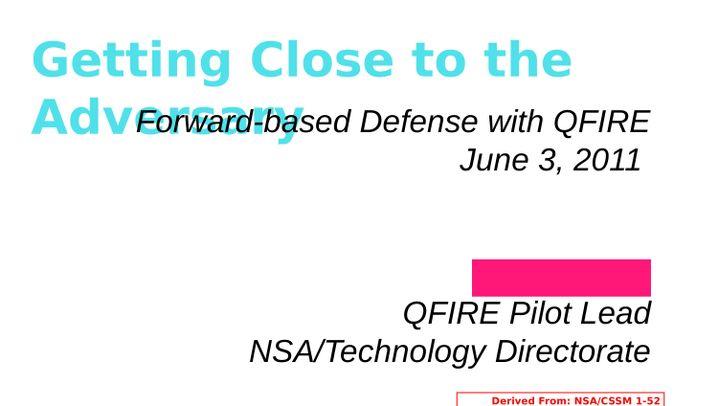 """NSA-Geheimdokumente: """"Vorwärtsverteidigung"""" mit QFIRE"""