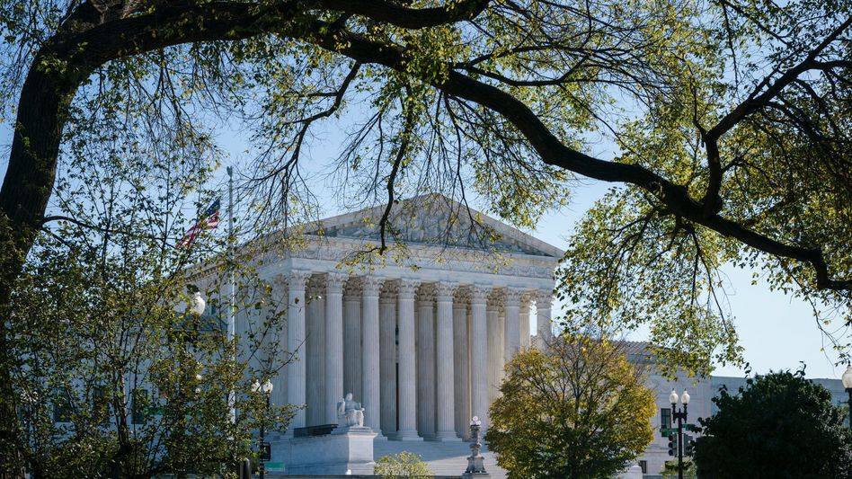 Der Amtssitz des Obersten Gerichtshofes der USA in Washington