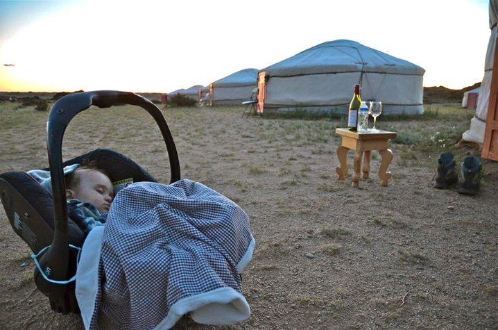 Julia Malchow fuhr mit ihrem kleinen Sohn durch die Mongolei