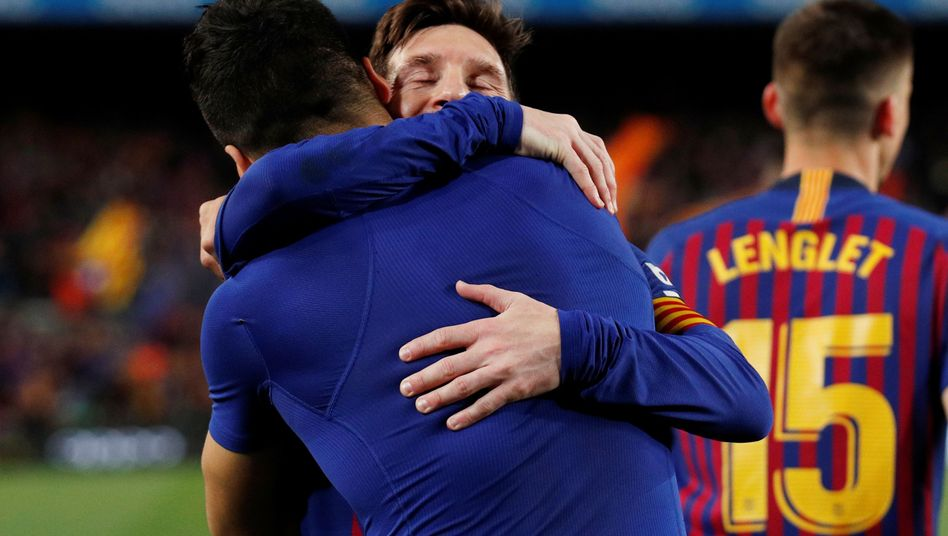 Lionel Messi und Luis Suárez