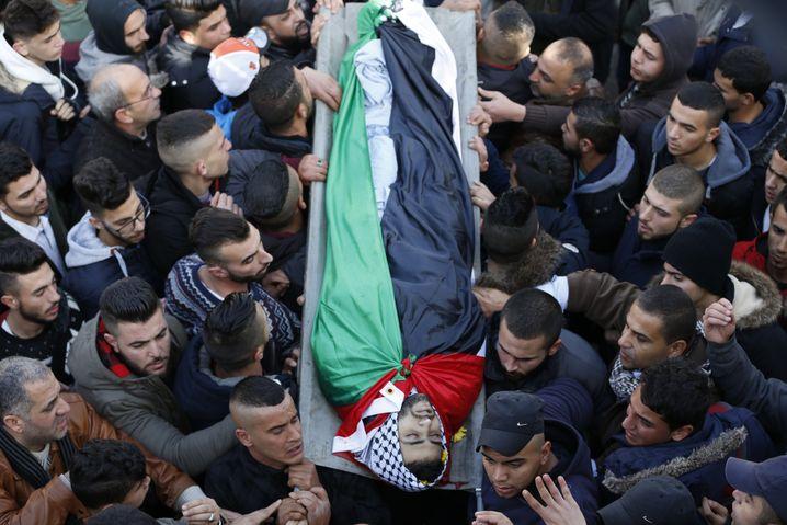 Trauerfeier für erschossenen Palästinenser