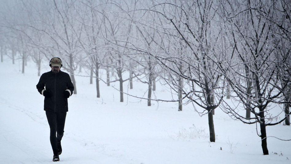 """Jogger im Winter: """"Wie Training an einem Sandstrand"""""""