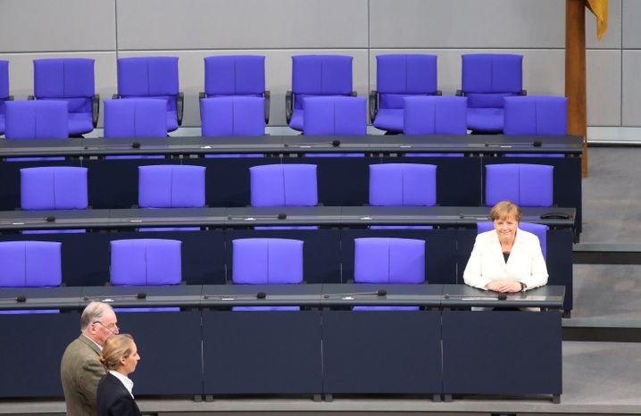 Gauland und Weidel vor Merkel