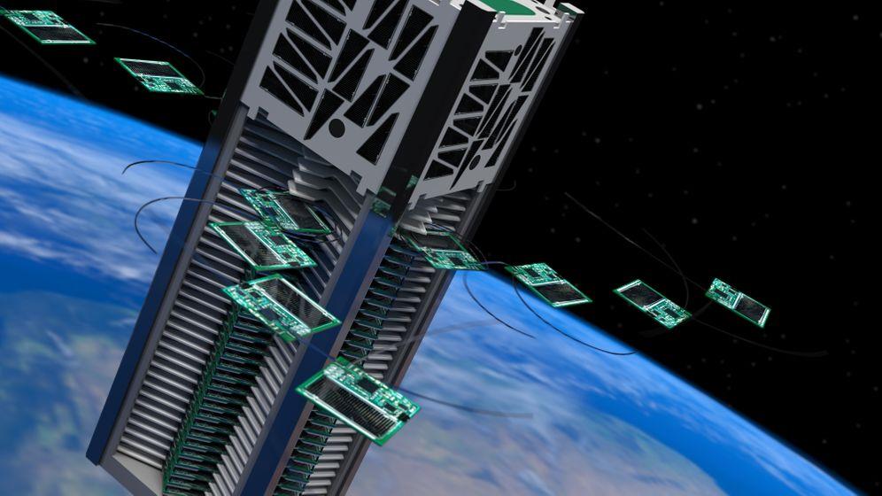 """Kicksat"": Mini-Satelliten im All"