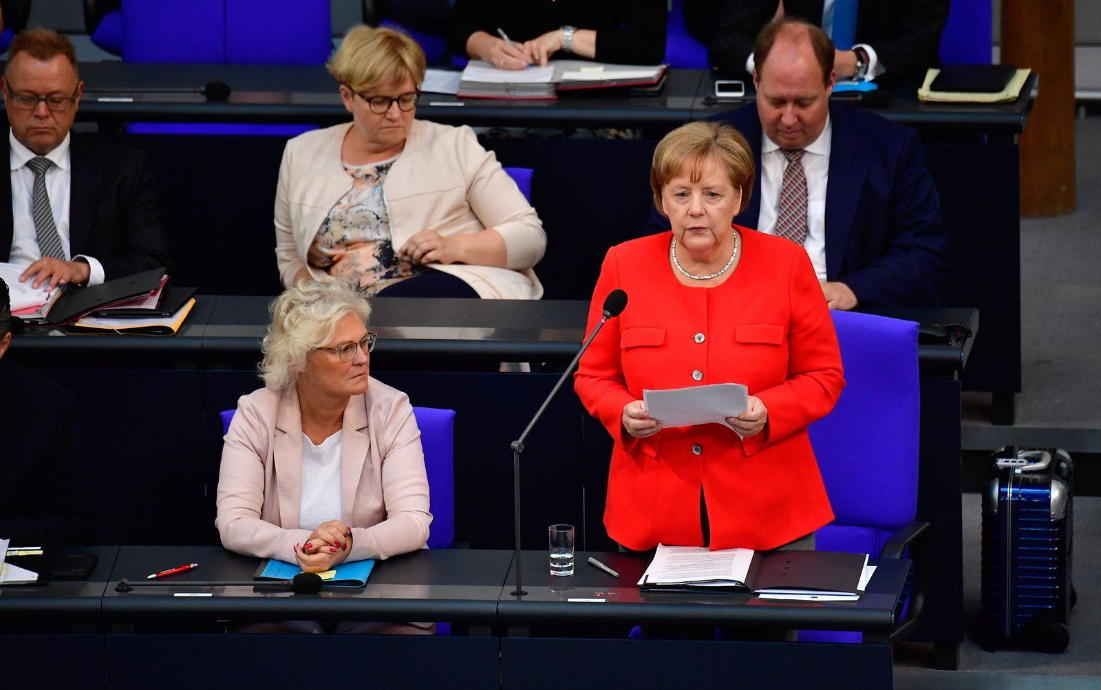 Merkel/ Befragung