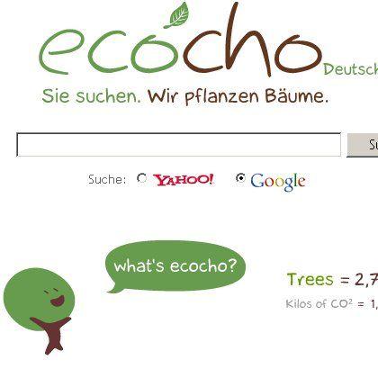Ecocho-Suchseite: Grünes Gewissen für Web-Suchen