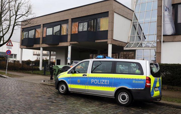 Polizeirazzia in Dresden