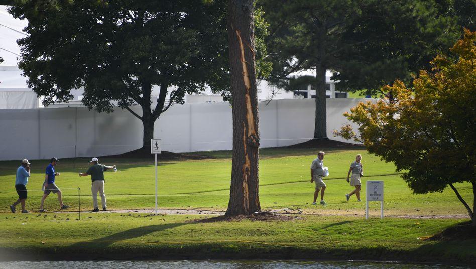 Blitzeinschlag im East Lake Golf Club in Atlanta, USA