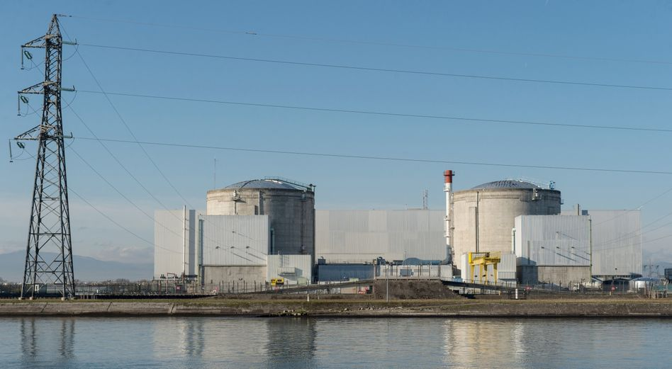 Atomkraftwerk in Fessenheim in Frankreich
