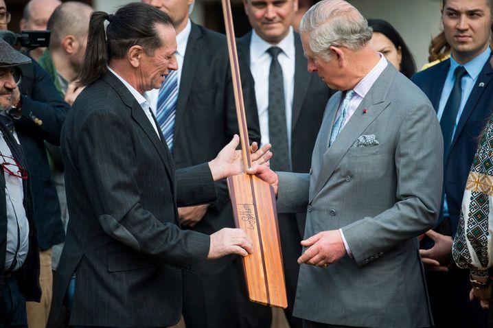 Patzaichin mit Prince Charles bei dessen Besuch in Bukarest 2017