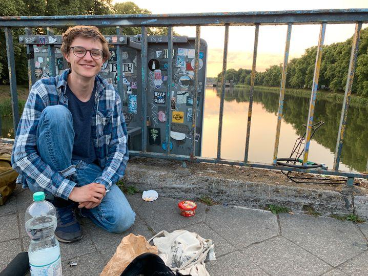 Tim Klein war am Abend der Messerstecherei an der Brücke