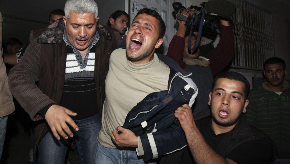 Trauer und Wut in den palästinensischen Gebieten: Sieben Menschen starben am Dienstag